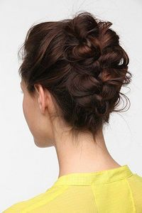 Haven't thought of a banana clip in a loooong time....but if using one can result in this beautiful style..I'm game :) : messy french braid with a banana clip