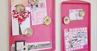 Instead of throwing them out, paint your used cookie sheets to make wall hangings, magnetic family message boards or whimsical serving trays.