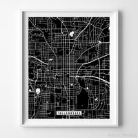 Tallahassee, Florida Street Map Vertical Print by Inkist Prints - Available at https://www.inkistprints.com