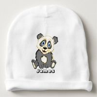 Personalized Smiling Panda Baby Hat