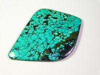 66.00 Cts 100% Rare ! Natural Mountain Tibetan Turquoise Cabochon Turquoise Loose Gemstone 61x44x4 MM Approx Fancy Shape For Making Jewelry $46.10