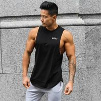 New Beach Fashion Gyms Tank Top Men Cotton Sleeveless tank tops Summer Singlets Undershirt Brand Vest Male Tops $7.5120% off code: fairytale