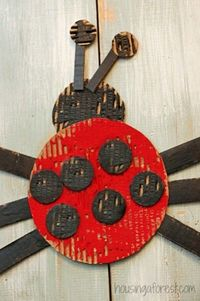Spring Ladybug Craft ~ Housing A Forest