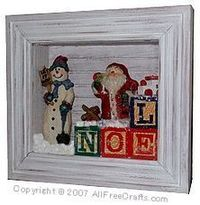 I figured out how to drive my dad nuts at Christmas- Instead of NOEL stocking hangers on the mantle (that he rearranges to say LEON every time he visits), I'm going to put NOEL blocks in a shadow box... that he can't get into!!!! Ha!!!