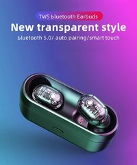 Bakeey M13 TWS bluetooth 5.0 Earphone HiFi Heavy Bass Smart Touch Bliateral Call Transparent Headphone with Charging Box