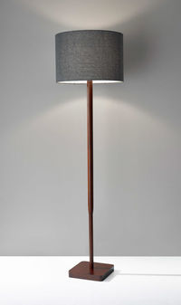 Ellis Floor Lamp, Walnut Rubberwood $153