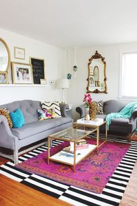 The latest in home decor trends can save you a few bucks (or your sanity if you have commitment issues). Here, get our tips for layering rugs like a pro.