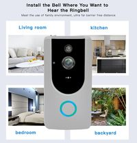 M2 Wireless 720P Smart WiFi Video Doorbell Door Phone Intercom with DingDong Chime PIR Sensor Alarm Night Vision