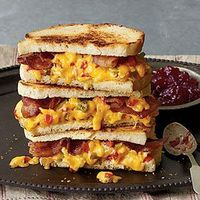 """Made with pimiento cheese, bacon, and strawberry preserves, """"Some Like It Hot"""" Grilled Pimiento Cheese Sandwiches are the mother of all pimiento cheese sandwich"""