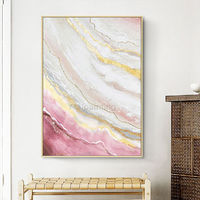 Gold art Modern art Abstract paintings on canvas art acrylic pink large wall art painting wall pictures cuadros abstractos wall decor $149.00