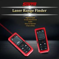 SUNTIN Laser Distance Meter Digital Electronic Ruler Handheld Infrared Range Finder