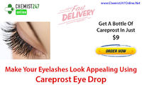 For long, dark and dense eyelashes, one of the best and trusted medicine is Careprost eye drops, generic Bimatoprost. Buy Careprost eye drops online in USA from our pharmacy store - Chemist247Online - http://bit.ly/2E6vAJy