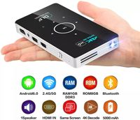 CSQ C6 Mini Ultra Short Throw DLP Projector Rechargeable Wireless Same Screen Home Theater 2GB RAM + 32GB ROM