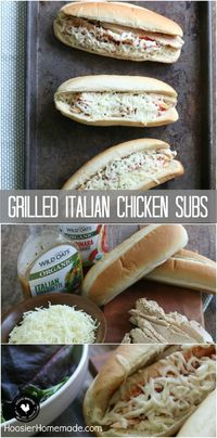Fire up the grill! It's time for a family favorite, easy to make, delicious Grilled Italian Chicken Subs made with organic ingredients that won't break the bank