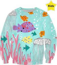 Tropical Fish Fantasy Kids Sweatshirt $54.95