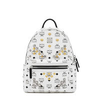 MCM Small Stark M Odeon Studs Backpack In White