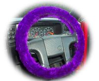 Purple Lover's you know you need to have this  Dark purple faux fur fuzzy steering wheel cover, it is such an amazing colour  Handmade from pretty purple faux fur fabric