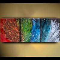 Acrylic pour painting on canvas, Large pour painting canvas art, Large abstract acrylic painting - Original painting $576.00