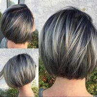 Shannon Chave created this gorgeous gray after 2 rounds of balayage using�€�