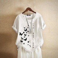 Vintage Butterfly Cotton Shirt $37.99