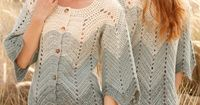 Crochet DROPS jacket with zig-zag pattern in 2 strands Alpaca. Size: S - XXXL. ~ DROPS Design
