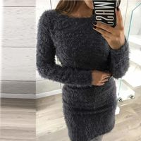 Fuzzy Soft Round Neck Mini Warm Sweater at www.fashionsqueen.com