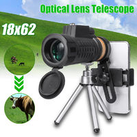 18X62 Outdoor Portable Monocular HD Optic Day Night Vision Phone Telescope Camping Travel