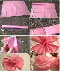 Read this to learn how to make hanging pompoms out of tissue paper!