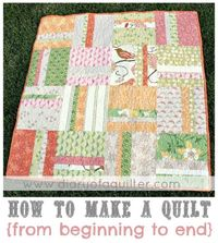 How to Make a Quilt by Diary of a Quilter