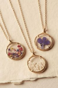 BHLDN Pressed Flower Necklace in Shoes & Accessories View All Accessories   BHLDN