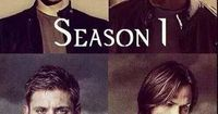 Supernatural Season 1- Season 9 NOTICE: Sam is looking down in both photos but Dean is looking straight at the camera...