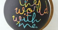 Maya Road Chalkboard Globe. ***I may have to try making one of these. I bet I could use rubber cement for the letters, just like you do w/ watercolors....***