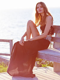 Super soft maxi skirt featuring an extremely high slit. Elastic waistband for an easy fit. Throw on top of a bikini or pair with a cropped top for an effortless look.