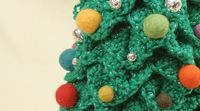 Crochet Crowd!! Crochet Christmas Tree pattern and it's so very easily explained out, 3 1/2 hour project and a great gift!