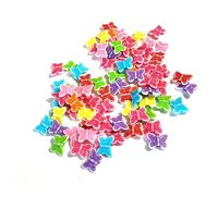 CLEARANCE Pack of 140 Assorted Colours Acrylic Butterfly Beads. Animal Nature Charms. 11mm x 14mm £10.19