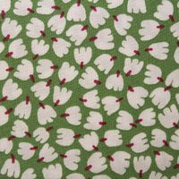 Timeless Treasures Fabric / Lily of the Valley on Green $8.99