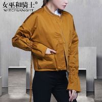 Must-have Vogue Slimming One Color Casual 9/10 Sleeves Baseball Jacket Coat - Bonny YZOZO Boutique Store