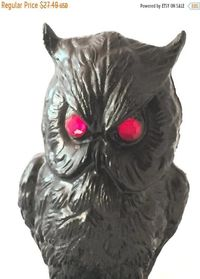 Vintage Coal Owl Figurine Handcrafted from Coal by V.C.P, Made in the USA, Collectible Owl $23.37