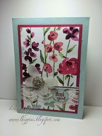 Painted Blooms and Butterflies go together - to see more visit my Facebook Business page: https://www.facebook.com/lindastampsnstuff