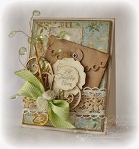 Friendship Blooms designed by Amy Sheffer - Nice idea with ribbon bow and roses! *