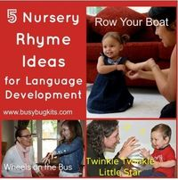 SLP Activities of the Week: 5 Nursery Rhyme Ideas for Language Development - Pinned by
