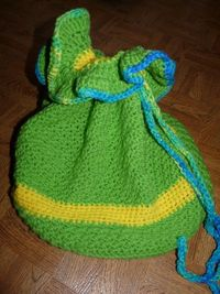 Drawstring Bag CLEARANCE by NancysCrochet on Etsy