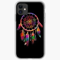 Digital Dreamcatcher Image in Red and Other Colors