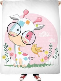 ROFB Baby Giraffe Fleece Blanket $65.00