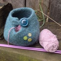 felted knitting yarn bowl