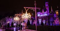 The iconic silhouette of Sleeping Beauty Castle presides majestically over your nuptials at the ultra-exclusive Sleeping Beauty Castle Forecourt