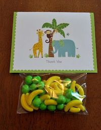 Monkey Themed Baby shower favors, RUNTS for any jungle themed party!!