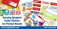 To enhance the beauty of your product in the market #folderstickers can be used. Formally #Folderstickers use on the #folders to make them friendly or catchy but it can be used for the product #promotion. #RegaloPrint #stickers #printing http://bit.ly/2...