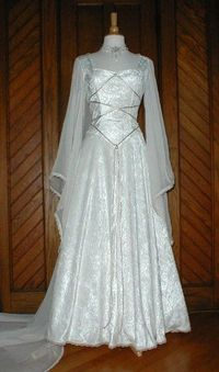 Gold Blue wedding dress gown | Medieval Wedding Gowns | Wedding Gowns