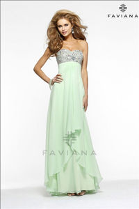 Strapless Beaded Faviana 7335 Long Prom Dresses Sale